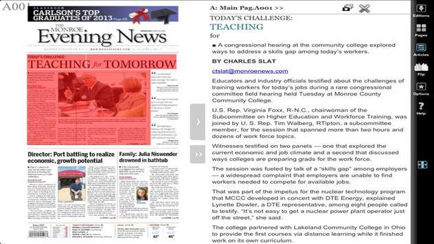 Monroe News eEdition apk screenshot