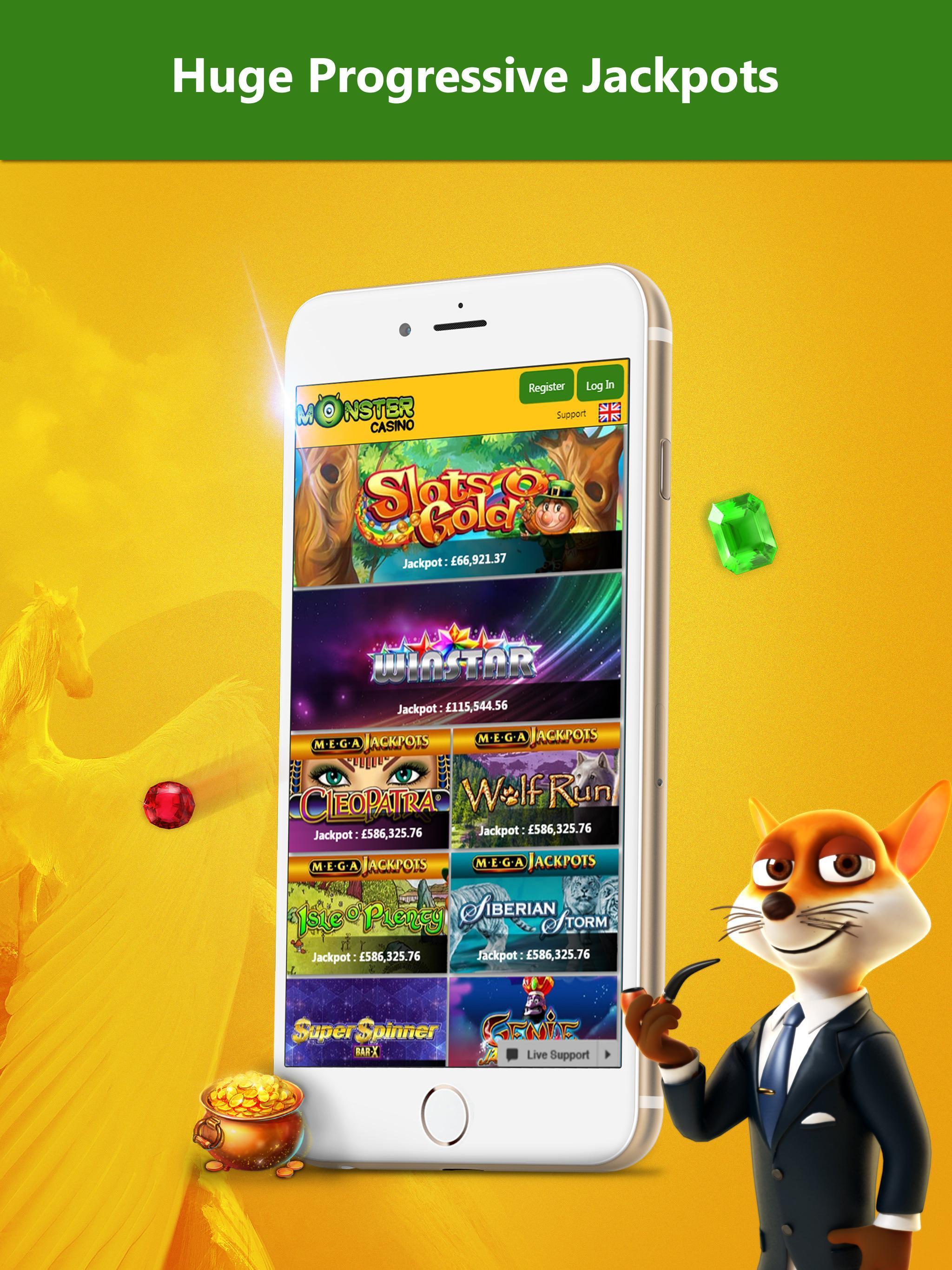 Monster Casino Real Money Mobile Casino App Uk For Android Apk