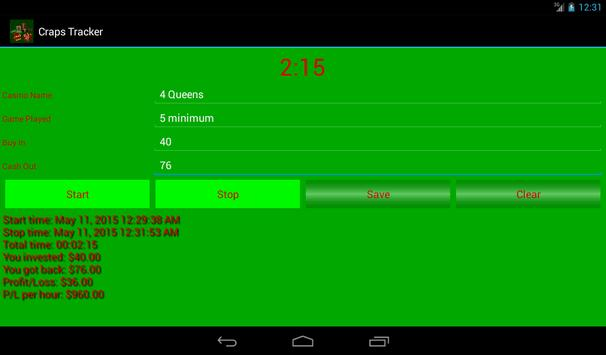 Craps Tracker screenshot 11