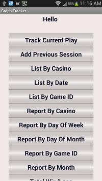 Craps Tracker screenshot 17