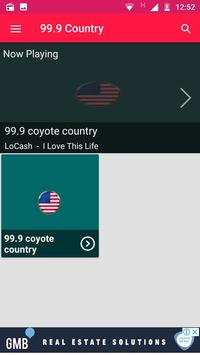 99.9 Country Radio Washington Radio Stations Apps screenshot 1