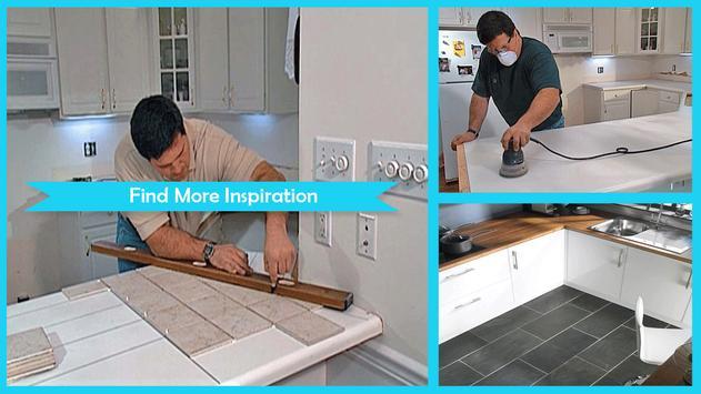 Simple Clean Ceramic Tile Countertops screenshot 4