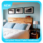 Upcycled Wood Pallet Headboard icon