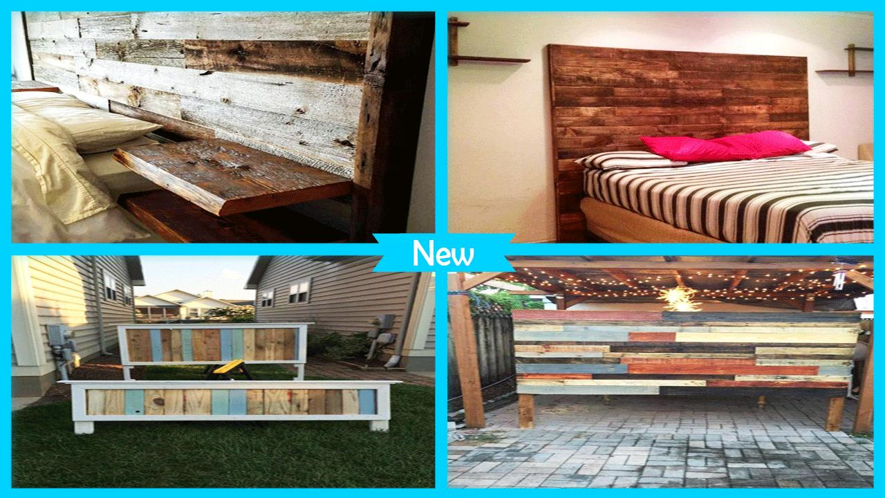 Upcycled Wood Pallet Headboard poster