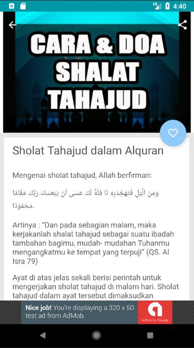 Tata Cara Dan Doa Shalat Tahajud For Android Apk Download