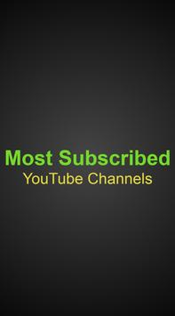Most Subscribed (YT Channels) poster