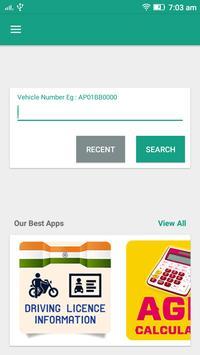RTO Vehicle Info - Free VAHAN Registration Details poster