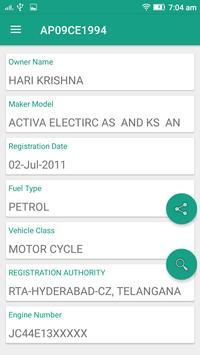 RTO Vehicle Info - Free VAHAN Registration Details screenshot 1