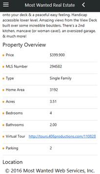 Most Wanted Real Estate Sites apk screenshot