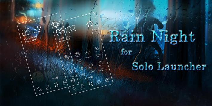 Rain Night Icons & Wallpapers poster