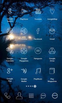 Rain Night Icons & Wallpapers apk screenshot