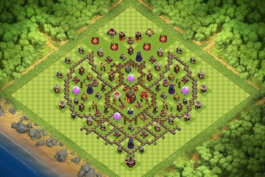 Best Base Maps COC TH10 poster