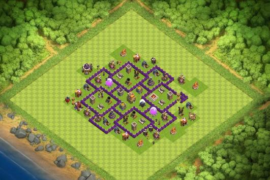 Best Base Maps COC TH7 poster