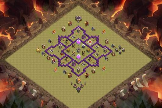 Best Base Maps COC TH7 apk screenshot