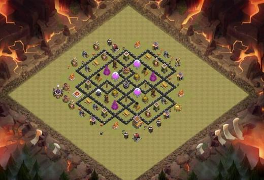 Best Base Maps COC TH8 poster