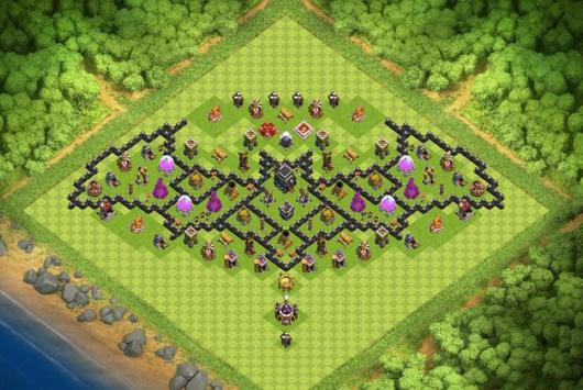Best Base Maps COC TH9 poster