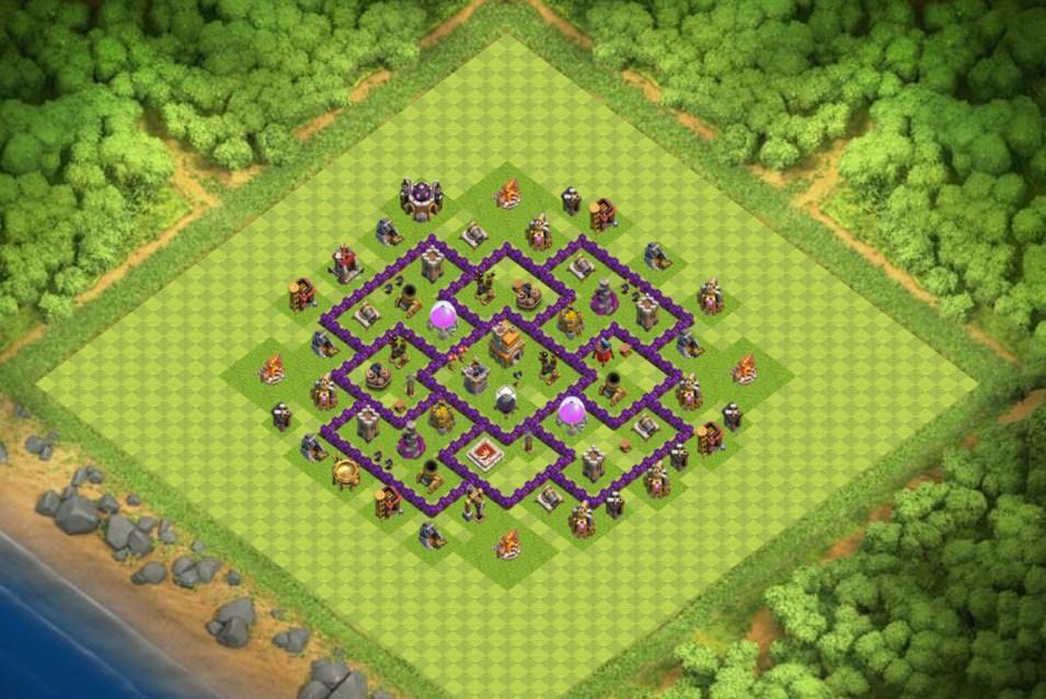 Base Coc Th 7 Keren 6