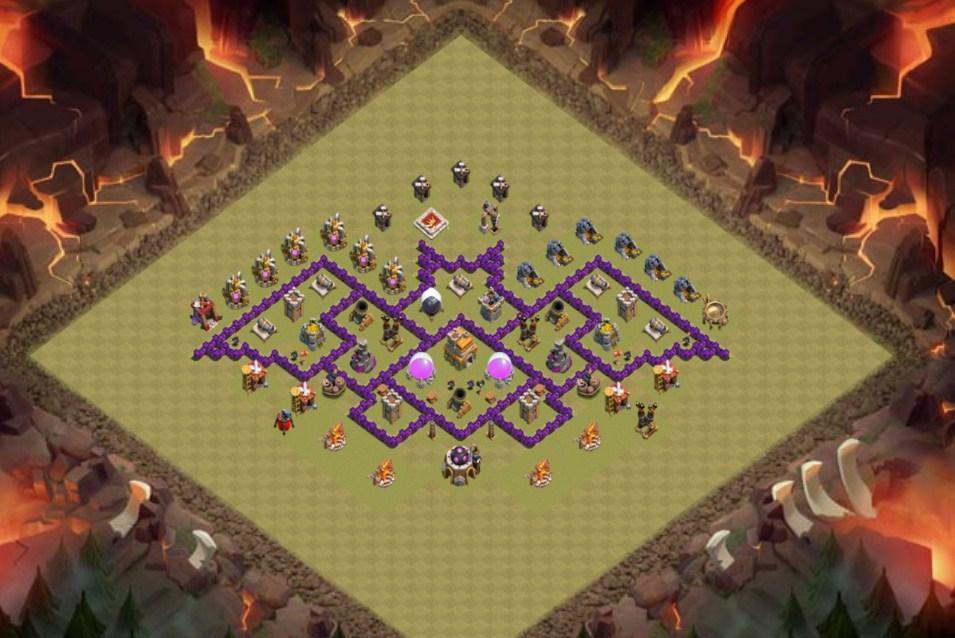 Base Coc Th 7 Terkuat Untuk War 5