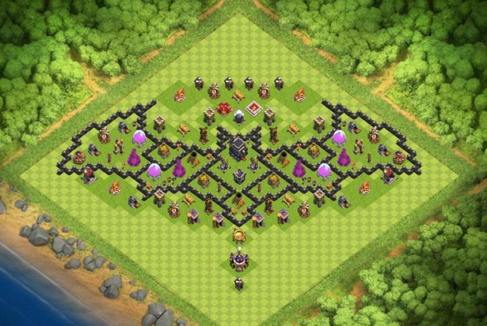 War Base Base Th 4 Coc 2