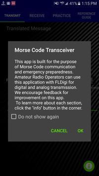 Morse Code Transceiver poster