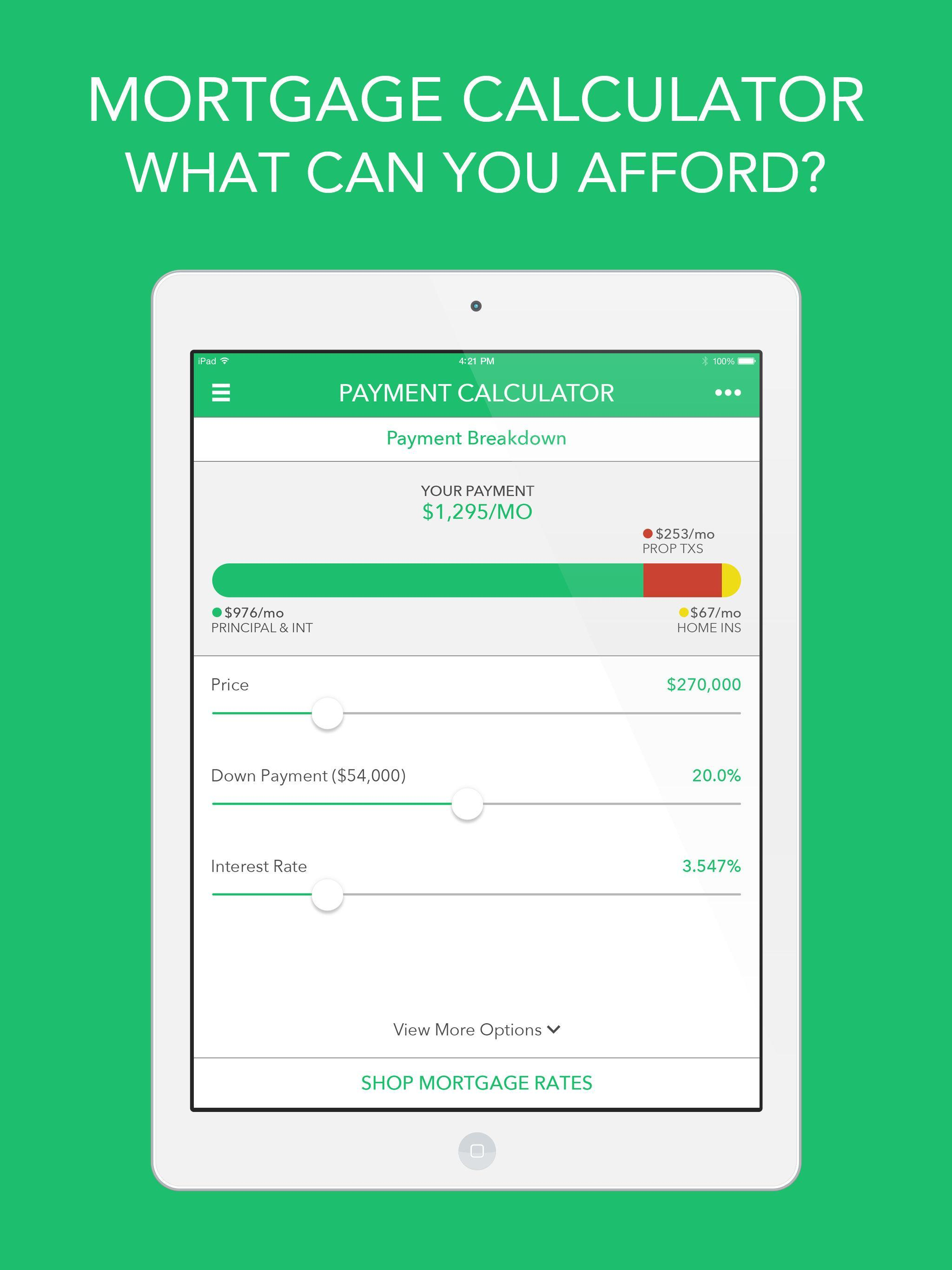 Down Payment Calculator >> Mortgage Loan Calculator For Android Apk Download