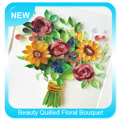 Beauty Quilled Floral Bouquet icon