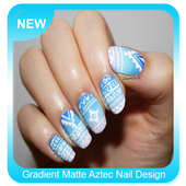 Gradient Matte Aztec Nail Design icon