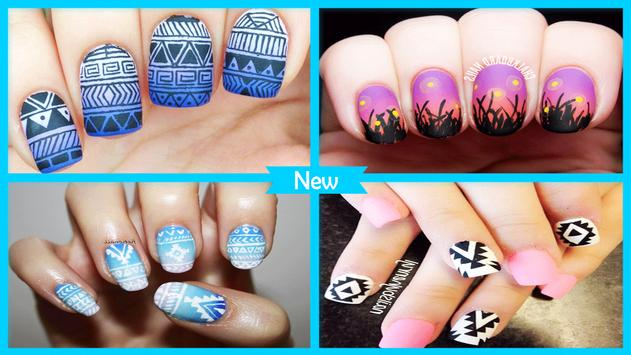 Gradient Matte Aztec Nail Design screenshot 3