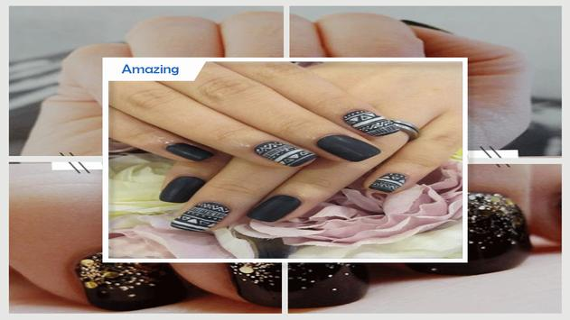 Gradient Matte Aztec Nail Design screenshot 2