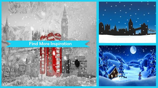 Snow in London Live Wallpaper poster