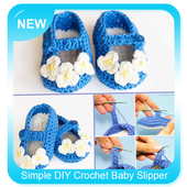 Simple DIY Crochet Baby Slipper icon