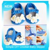 Simple DIY Crochet Baby Slipper icon