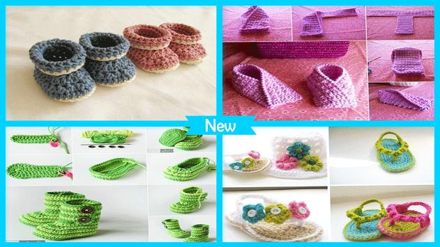 Simple DIY Crochet Baby Slipper screenshot 4