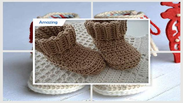 Simple DIY Crochet Baby Slipper screenshot 3
