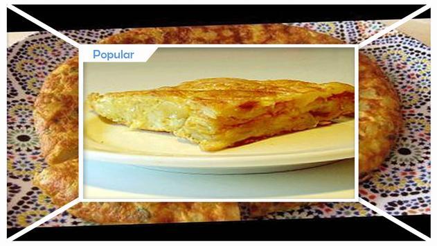 Simple Tortilla Potato Omelet Recipe screenshot 1