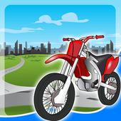motorcycle games for kids free icon