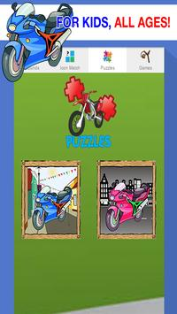 motorcycle games for kids free poster