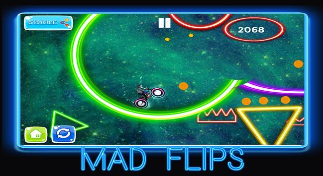 neon rider glow climb : dark  motocross hill screenshot 10