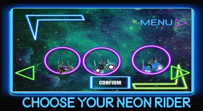 neon rider glow climb : dark  motocross hill screenshot 11