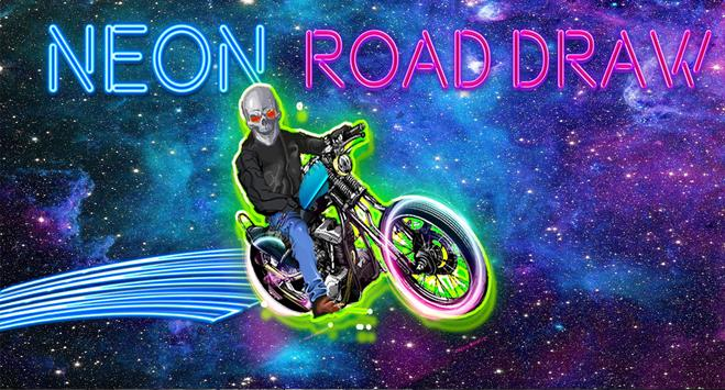 neon rider glow climb : dark  motocross hill screenshot 5