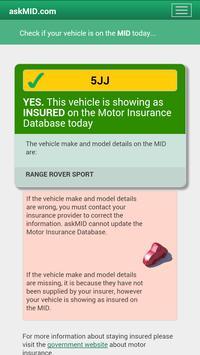 Motor Insurance Database UK apk screenshot