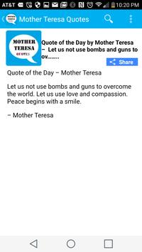 Mother Teresa Quote of the Day screenshot 3