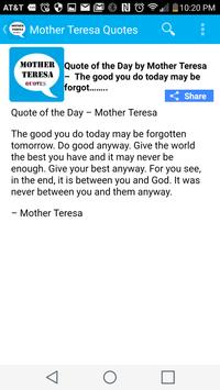Mother Teresa Quote of the Day screenshot 4