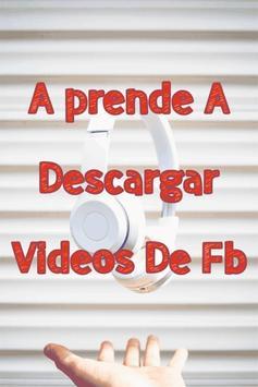 Descargar Videos De FB Gratis Tutorial Rápido poster