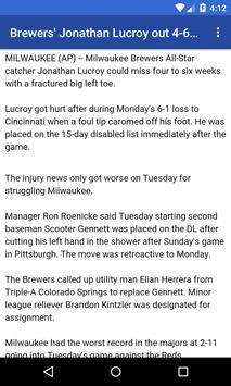 BIG Milwaukee Baseball News screenshot 2