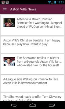 BIG Aston Villa Football News poster