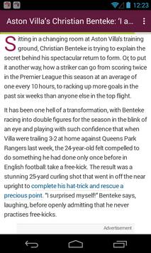 BIG Aston Villa Football News apk screenshot