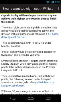 BIG Swansea Football News apk screenshot
