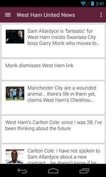 BIG West Ham Football News poster