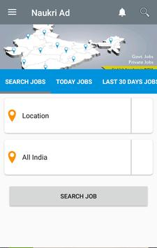 Naukri Ad Job Search, Latest Government jobs poster